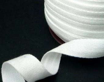 10 yds Semi-White Cotton Twill Tape (Double Arrow) Wrapping Binding Tape Bias Tape 3/4 inch / 19mm width TR43