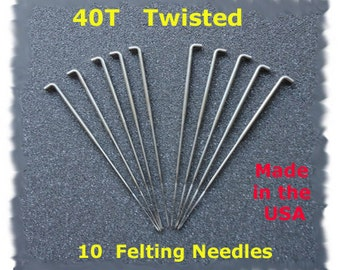 Dream Felt - NEW Twisted (Spiral) Needle Felting Needles 10 - 40T Made in the USA