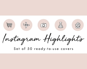 Instagram Story Highlight Icons - 50 Nude Pink Filled In Covers | Fashion, Beauty, Lifestyle, Decor, Craft, Handmade, Bloggers, Influencers