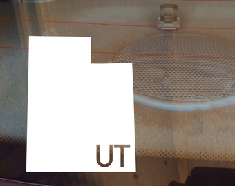Utah Car Decal, State Decal, Utah Decal, Laptop Decal, Laptop Sticker, Car Sticker, Car Decal, Vinyl Decal, UT, Window Decal, Any State