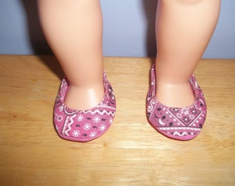 American 18 Inch Doll Clothes Doll Shoes pink white and black