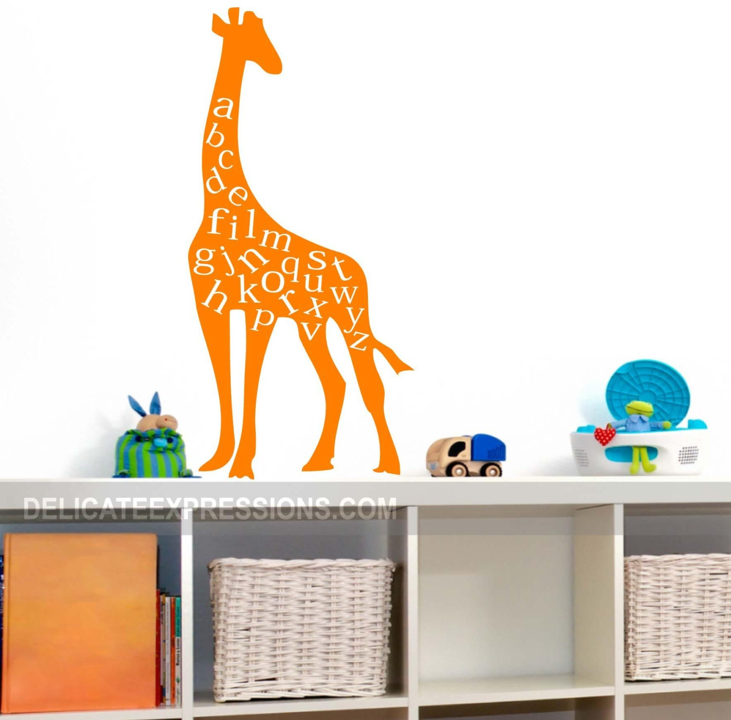 Alphabet Wall Decal ABC Playroom Wall Decal Giraffe Wall Decal Vinyl Lettering Childrens Decor Vinyl Decal Kids Vinyl Wall Art  sc 1 st  stone creek wall decals & Alphabet Wall Decal ABC Playroom Wall Decal Giraffe Wall Decal Vinyl ...