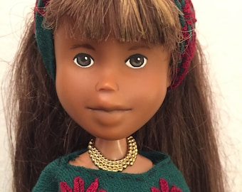 Festival folk dolls, repainted bratz, OOAK dolls, real life dolls, upcycled, recycled doll, hippy, tree doll, doll of colour doll, change do