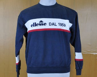 Vintage Sweater Ellesse Stripe Design Sweatshirt Simple Nice Shirt