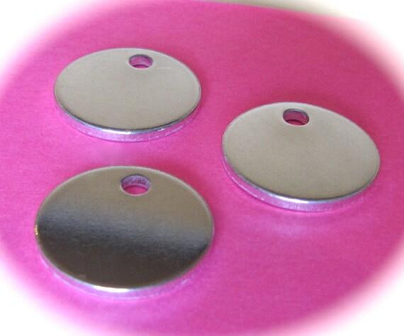 "100 Discs 1/2"" 14 Gauge Polished with Hole Pure Food Safe Metal - 100 Discs"