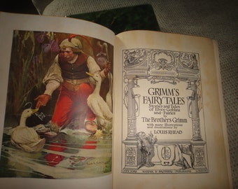 Grimm's Fairy Tales Stories and Tales of Elves-Goblins and Fairies  by The Brothers Grimm 1917