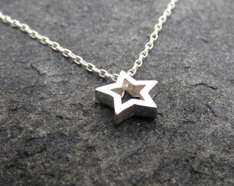 Star Necklace, Sterling Star, Dainty Necklace, Everyday Necklace, Minimalist Necklace, Gift for her