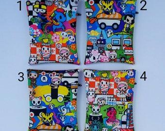 Ju Ju Be Tokidoki Sushi Cars Jujube Sparkle Glitter Vinyl Clear First Aid Zipper Pouch Zip Medi Bag Momma Essentials  Donutella Unicorns