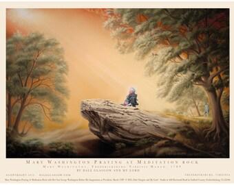 Mary Washington Praying on Meditation Rock