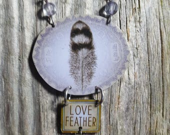 Love Feather Tin Can Glam Necklace