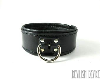 Leather BDSM Collar/Mature/Handmade Collar/Slave Collar/Sub Collar/Submissive Collar/Bondage Collar/Fetsih/Kink/Bdsm Restraints/Ddlg Collar