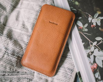 "Sleeve for Samsung Galaxy S6 Edge+, leather, wool felt, ""Dandy"""