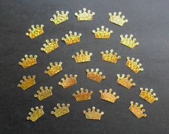 Gold Crown STICKERS- TINY or SMALL Golden Glittery crowns- Sticky gold crowns Crowned birds crowned animals crowned people crown gold crowns