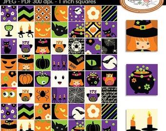 50%OFF Halloween clip art, Halloween stickers, Halloween inchies, Halloween digital collage sheet, DIY Halloween, P92