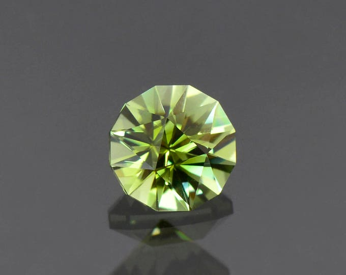 Fabulous Bright Green Yellow Tourmaline Gemstone from the Congo, 7.5 mm., 1.82 cts.