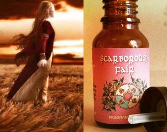 Scarborough Fair Perfume Oil / Essential Oil Blend  / Frangrance Oil / Perfume / Bergamot Oil - .5 oz dark bottle / Euro dropper