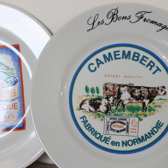 French Cheese Plates Set Vintage Cheese Dish Vintage Cheese Advertising Ceramic Cheese Plate Cheese Display Ceramic Cheese Platter A17 & French Cheese Plates Set Vintage Cheese Dish Vintage Cheese