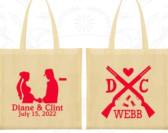 Redneck Bags, Custom Cotton Bags, Country Bags, Southern Wedding, Tote Bag Personalized (562)