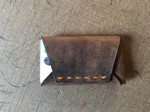 Pocket leather wallet and card case, Man Wallet