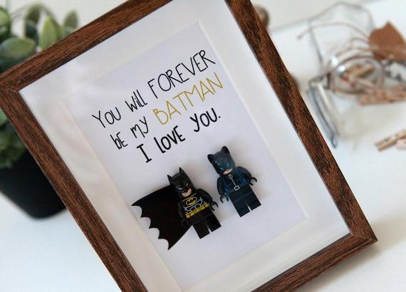 Batman Wedding Gift: Personalised Batman Gifts Lego Frame Wonder Woman Birthday