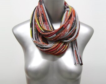 Infinity Scarf, Statement Necklace, Gift for Women, Gift for Men, Girlfriend Gift, Infinity Scarf, Boyfriend Gift, Festival Clothing, Mens