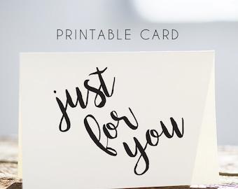 printable christmas card for husband, christmas card for wife, just for you printable card, printable cards, just for you