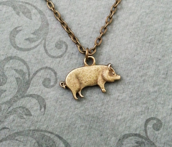 Pig necklace small bronze pig jewelry brass pig pendant pig necklace small bronze pig jewelry brass pig pendant necklace sow necklace farm animal necklace bacon necklace bacon gift pet pig gift mozeypictures Gallery