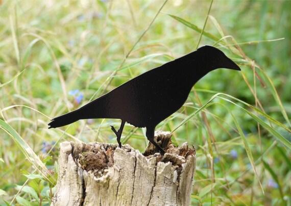Garden Crow Yard Art, Raven Bird - Lawn Ornament