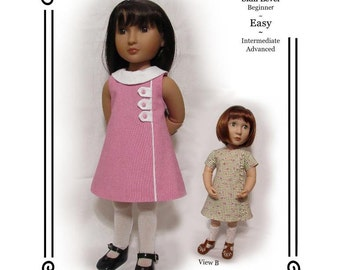 """PDF Pattern KDD23-16 """"Town & Country""""- An Original KeepersDollyDuds Design,16"""" Doll Clothes Fits A Girl For All Time Dolls"""