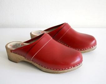 Classic Red Clogs 39