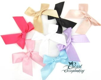 LOT 8 SATIN MULTICOLOR LINGERIE SEWING SCRAPBOOKING HAIR BOW