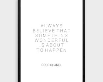 coco chanel quote etsy. Black Bedroom Furniture Sets. Home Design Ideas