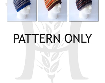August Woods Textured Beanie for Guys Crochet Pattern