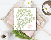 Mother's day card, made for mum, DIY craft, Craft for kids, children's DIY pack , fingerprint tree for mother's day, stamping craft kit