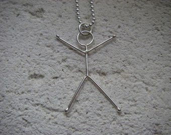 Victory Stick Figure Necklace