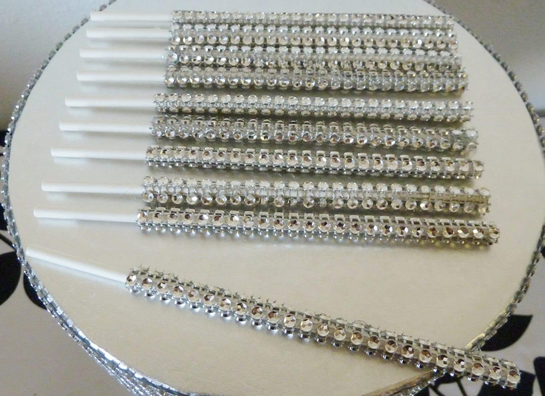 Silver Bling Cake Pop Sticks