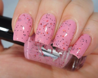 Peppermint Mocha Latte *with optional scent* - custom pink holographic red metallic bronze glitter nail polish