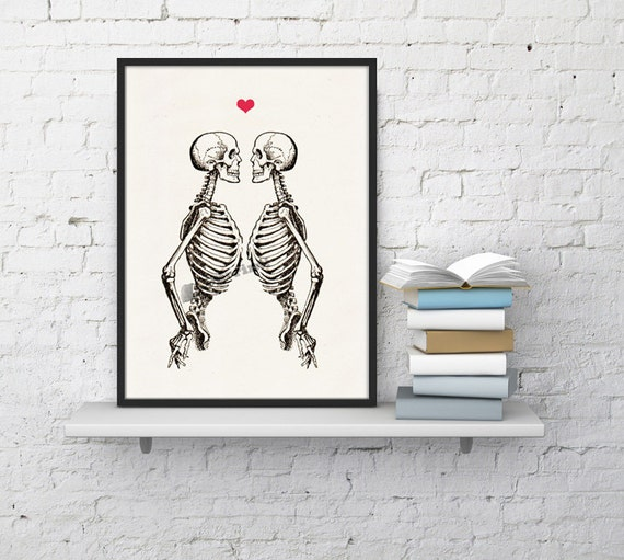 Skeleton Couple, Anatomy art, Anatomical art, Wall art, Wall decor, Anatomy, Medical gift, Wholesale, Gift for doctor, Science art SKA003WA4