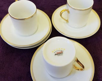 Set of 4 Expresso Cups and Saucers by Behdan Noor