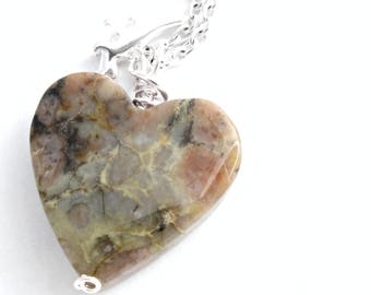 Heart Shaped Coprolite Necklace, Fossilized Dinosaur Poop Pendant, Paleontologist Gift, Fossil Stone Jewelry with T Rex Charm