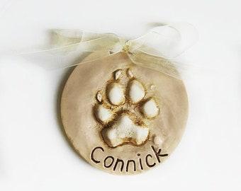 Grand chien ornement - patte ornement - imprimer chien souvenir - ornement de chien personnalisé - cadeau animaux - Doggy ornement cadeau - patte imprimé souvenir