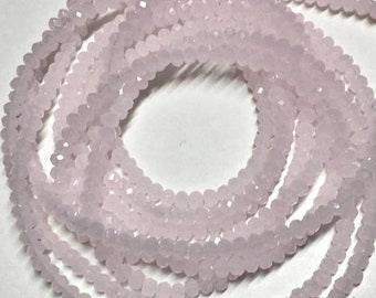 ON SALE Milky Pale Pink Glass Crystal Rondelles 3x2mm Approx 195 beads