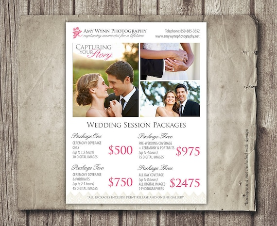 Photography Prices Wedding: Wedding Photography Package Pricing Photographer Price List