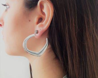 Open Hoops, Women Drop Earrings, Gypsy Earrings, Hoop Earrings, Elegant Earrings, Woman's Dangle Earrings, Statement Earrings, Boho Earrings