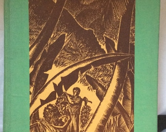 Book, Hot Countries by Alec Waugh, Woodcuts by Lynd Ward, A Travel Story with Woodcuts Expressing many Wonderful Places and People