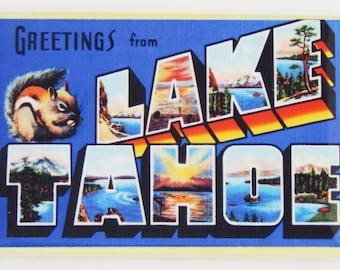 Greetings from Lake Tahoe Fridge Magnet