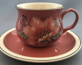 Denby England Damask Tea Cup and Saucer.