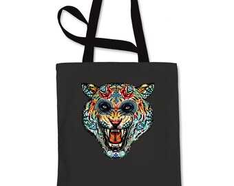 Tiger Day Of The Dead Shopping Tote Bag