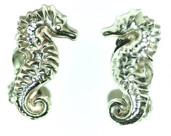 Vintage Seahorse Clip On Earrings