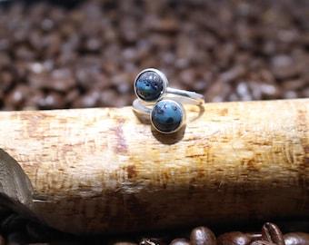 Leland Blue Sterling Silver Ring   sz6.0+-
